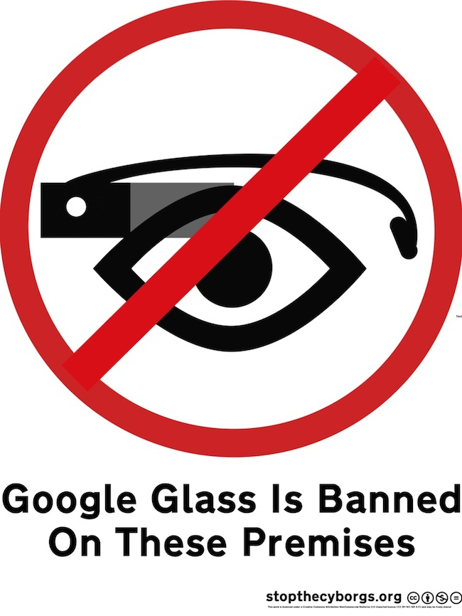 Google Glass is banned